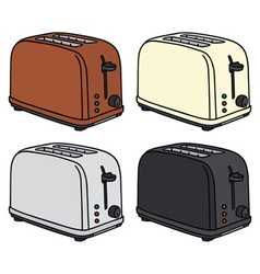 Electric toasters vector