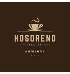 Coffee shop logo design element vector