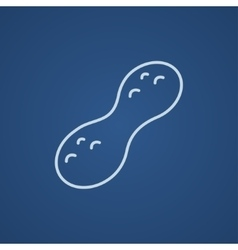 Peanut line icon vector