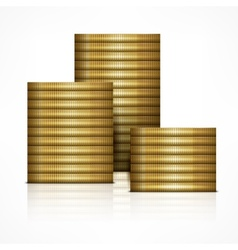Stacks of coin vector
