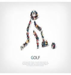 People sports golf vector