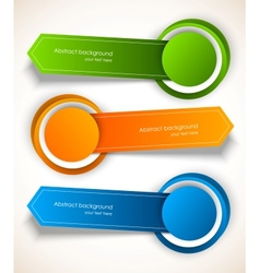 Abstract colorful tags vector image vector image