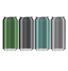 Aluminum Beverage Drink Can Isolated Mock Up vector image