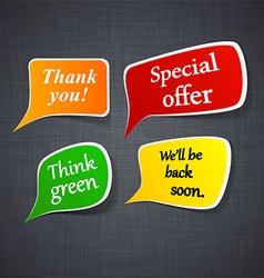 Announcement paper speech labels vector image