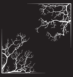 branch borders halloween black and white print vector image vector image