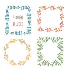 cute frame set circles and squares decoration vector image
