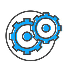 Data stream icon with gear sign vector