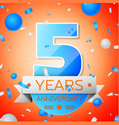 Five years anniversary celebration vector
