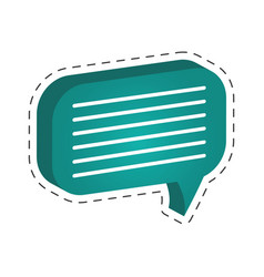 green speech bubble icon vector image vector image
