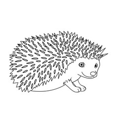 hedgehoganimals single icon in outline style vector image vector image