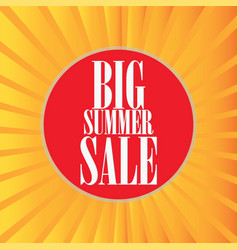 Hot summer sale template banner vector