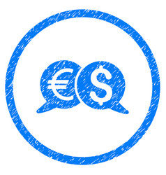 International payments rounded grainy icon vector