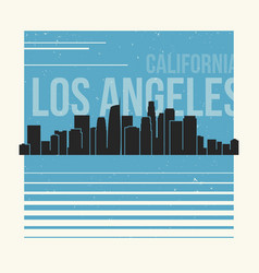 Los angeles graphic t-shirt design tee print vector