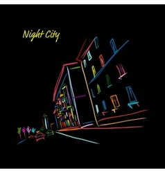 Night city street for your design vector image vector image