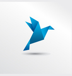 origami pigueon vector image