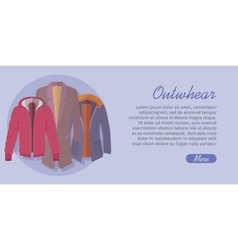 Outerwear Web Banner Winter Collection for Man vector image vector image