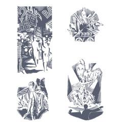 Set of decorative hand drawn vector