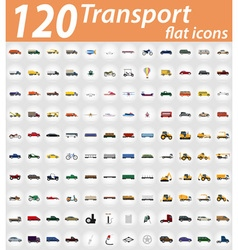 Set transport flat icons 01 vector