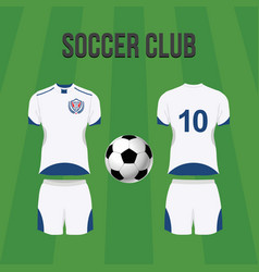 soccer team uniform vector image