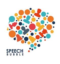 speech bubbles communication vector image vector image