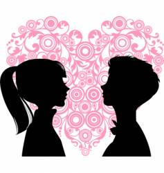 teens in love vector image
