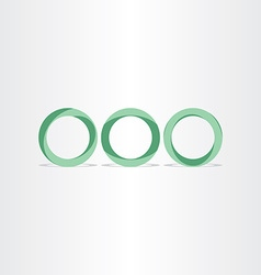 Three green circles frames rings background vector