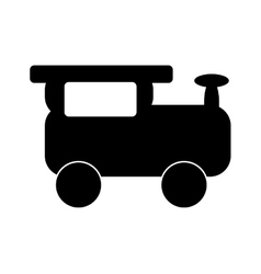 Train baby toy vector