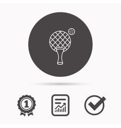 Table tennis icon ping pong sign vector