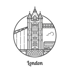 Travel london icon vector