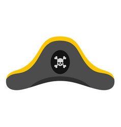 Pirate hat icon isolated vector