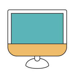 Silhouette color sections of lcd monitor vector