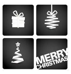 Simple original christmas new year card vector