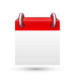 blank calendar on white background vector image