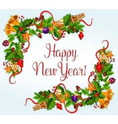 2017 new year greeting card vector
