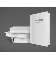 Book template with white vector