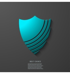 Modern shield icon on gray background vector