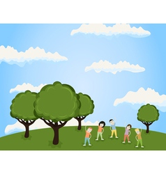 Sports in park vector image