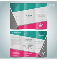 brochure design template leaflet vector image
