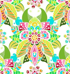 Stylish floral background hand drawn doodle floral vector