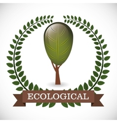 Ecological product design vector