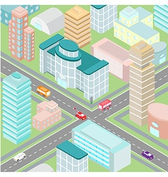 Town isometric vector