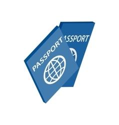 Passport icon isometric 3d style vector