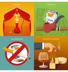 Smoking Tobacco Compositions vector image