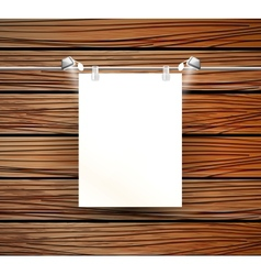 Place for poster and wooden wall vector