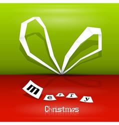 Abstract Christmas ribbon vector image vector image