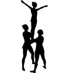 Acrobatic stunt vector