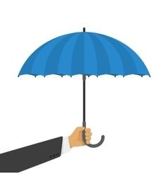 an umbrella in hand vector image vector image