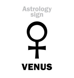 astrology planet venus female vector image