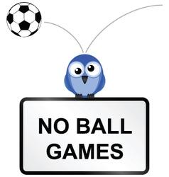 Ball games sign vector