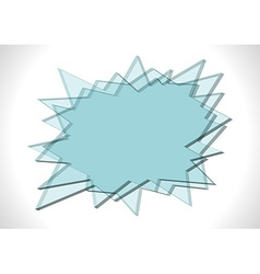 Bang shaped glass plates vector image vector image